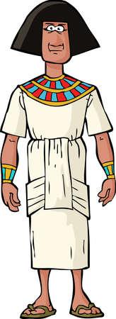 nobleman: Antica nobile egiziano su uno sfondo bianco illustrazione vettoriale