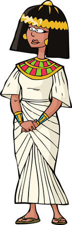 egyptian woman: Ancient Egyptian woman on white background vector illustration