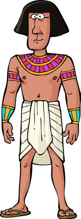 Ancient Egyptian citizen on white background vector illustration Vector