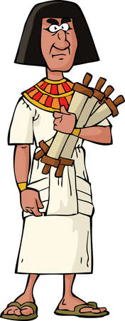Ancient Egyptian official on a white background vector illustration Vector