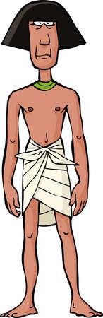 serf: Esclave �gyptienne antique sur un fond blanc illustration vectorielle Illustration