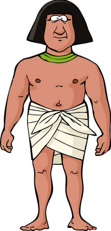 Ancient Egyptian slave on a white background vector illustration Vector