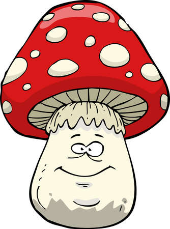 inedible: Amanita on a white background vector illustration