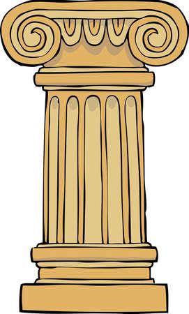 doric: Column pedestal on a white background vector illustration