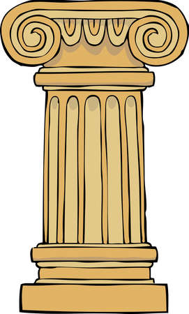Column pedestal on a white background vector illustration