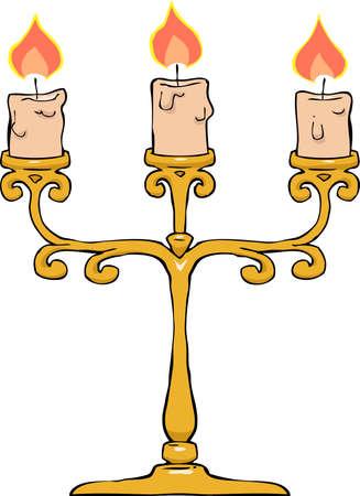 Candlestick on a white background vector illustration Illustration