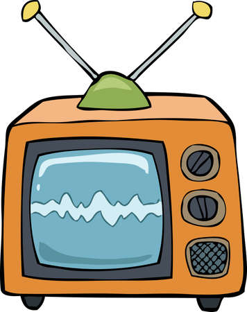 TV on a white background vector illustration