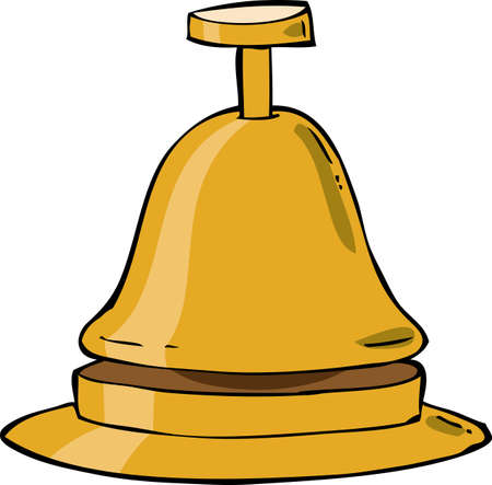 clang: Reception bell on a white background vector illustration