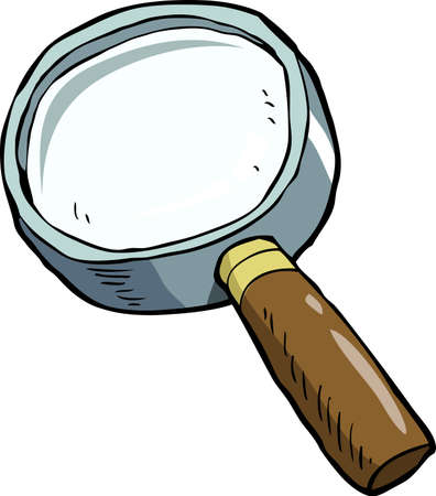 test glass: Magnifying glass on a white background vector illustration