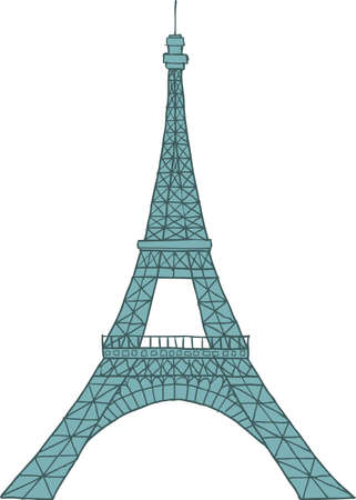 intricacy: Eiffel Tower on a white background vector illustration