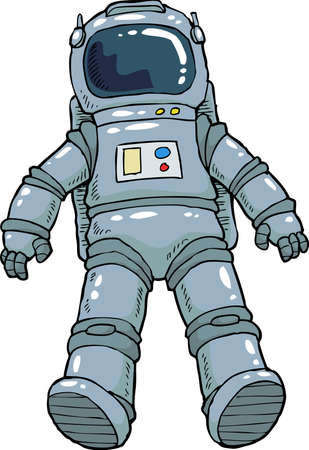 zero gravity: Astronaut on a white background vector illustration