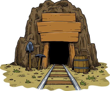 jaskinia: Mój jest na białym tle ilustracji wektorowych Ilustracja