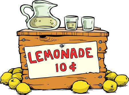 Trade lemonade on a white background vector illustration Vettoriali