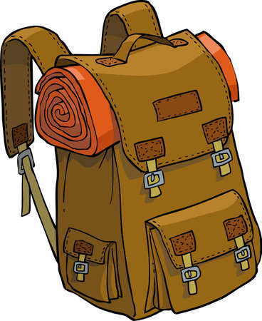 sacks: Backpack on a white background vector illustration
