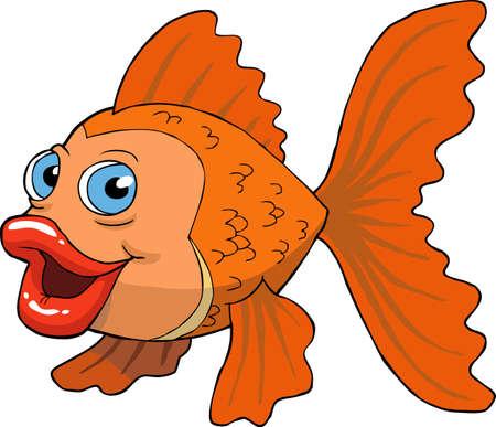 Goldfish on a white background vector illustration Illustration
