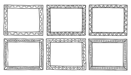 Framework: Doodle framework on a white background vector illustration