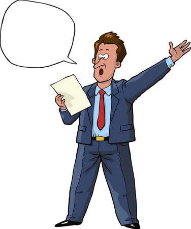 talker: Speaker reads the text vector illustration Illustration