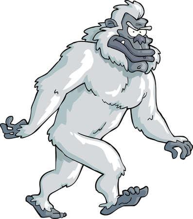 primacy: Bigfoot on a white background vector illustration