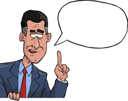 PERSONAS: El hombre dice en una ilustración vectorial de esquina Vectores