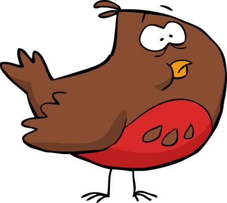 little bird: Brown little bird on a white background vector illustration Illustration