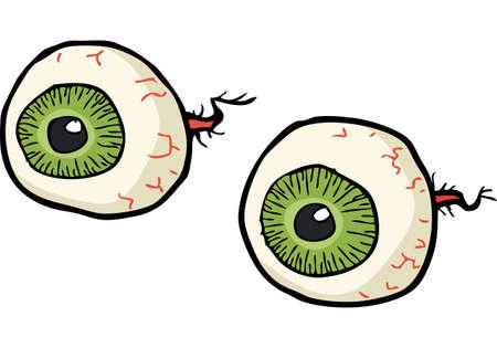 pelota caricatura: bosquejo de dibujos animados ojos sobre un fondo blanco ilustración vectorial
