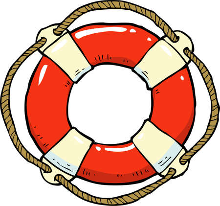 ring life: Lifebuoy on a white background vector illustration