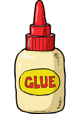 Cartoon bottle of glue on a white background vector illustration