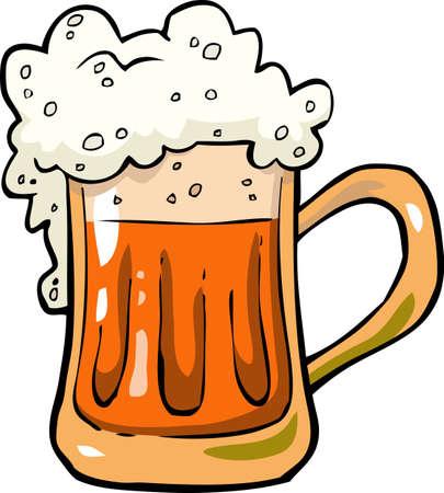 mug: Cartoon mug of beer foam vector illustration Illustration