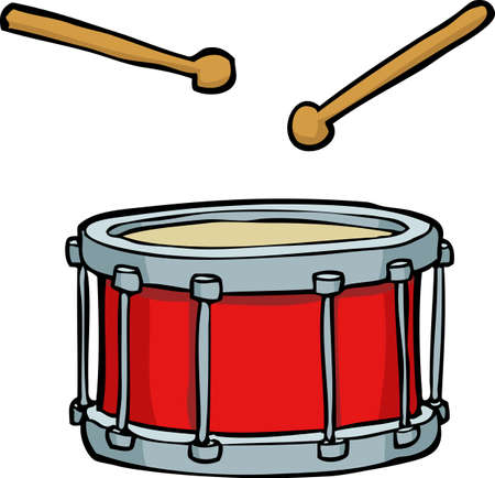 red drum: Cartoon doodle red drum on a white background vector illustration
