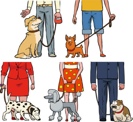 weiner: Five dogs and their owners