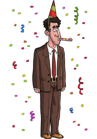 dull: Dull tax agent on a white background Illustration