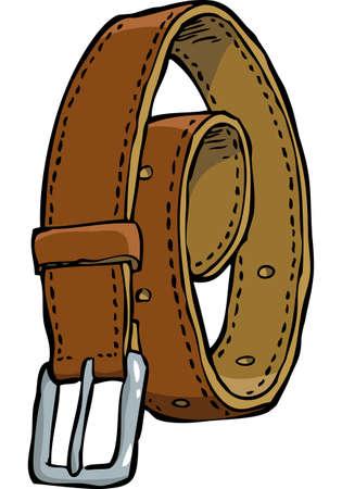 Doodle leather belt on a white background vector illustration