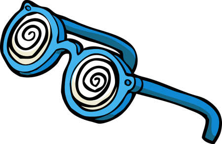 Doodle hypnotizing glasses on a white background vector illustration