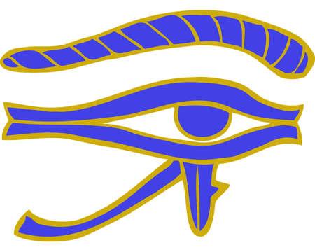 Cartoon doodle egyptian eye on a white background vector illustration