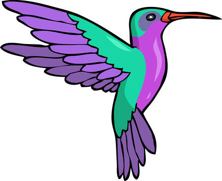 Cartoon doodle humming bird on a white background vector illustration