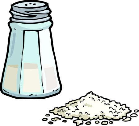 Cartoon doodle zoutvaatje op een witte achtergrond vectorillustratie Vector Illustratie