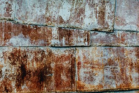 wall texture of rusty sheet metal. Background, pattern, concept Steam Punk