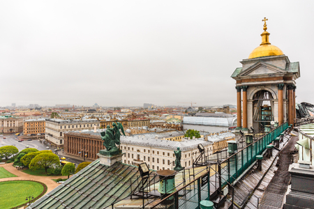 View from roof of St. Isaacs Cathedral, Saint Petersburg, Russia Stock Photo