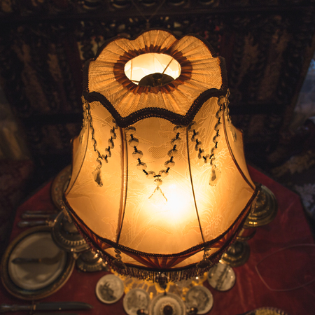 Vintage table lamp, toned Stock Photo