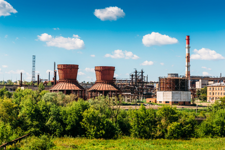 Plant or factory for the production of synthetic rubber in Efremov, Russia