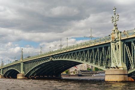 Trinity bridge across the Neva, St. Petersburg, Russia