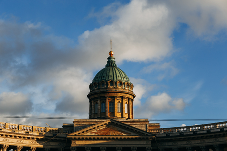 sobor: Tower of Kazan Cathedral in St. Petersburg, Russia