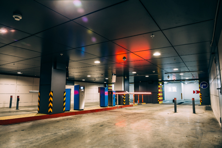 Entry into Underground garage or modern car parking, barrier and the control system for driving in cars