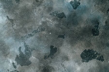 Abstract Rough Black And White Aged Grunge Cement Wall Surface Texture Background For Design. Фото со стока