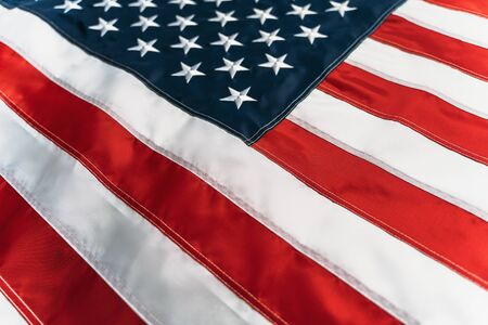 American Flag or United States of America national flag background, close up. 写真素材