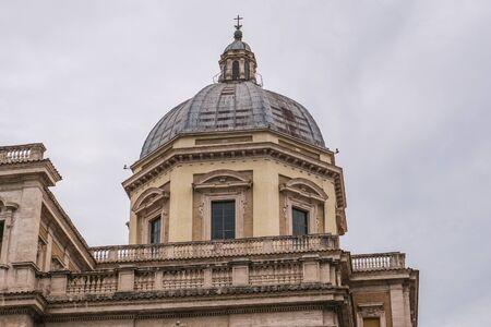Dome on Basilica di Santa Maria Maggiore in Rome, Italy.