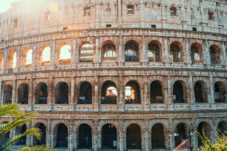 Colosseum in Rome, Italy famous European sightseeing, toned.