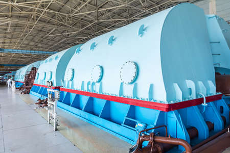 turbina de vapor: Turbines in the Engine Room for Steam Turbines of the Kursk Nuclear Power Plant