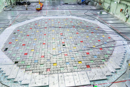 Lids of fuel assemblies of nuclear reactor at the Kursk nuclear power plant