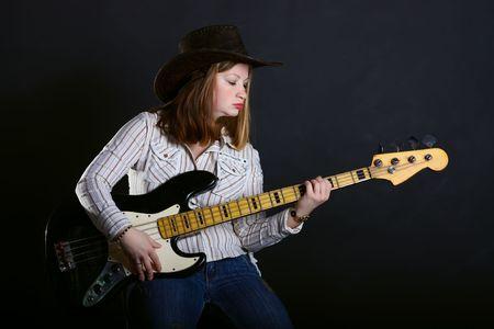 Girl playing guitar  Stock Photo